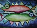 Two Fish 140x180cm